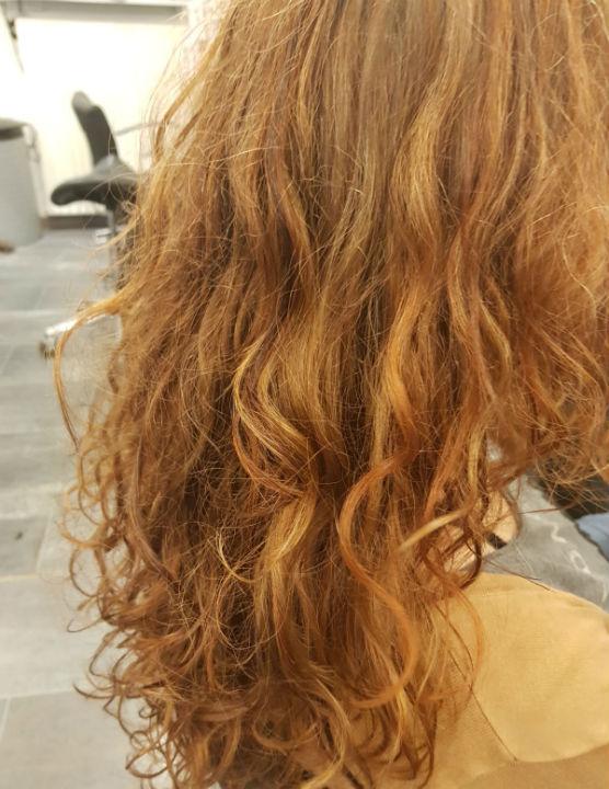 Curlsys knippen bij een klant