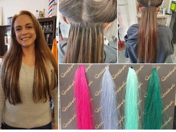 Hairextensions laten zetten voorbeelden